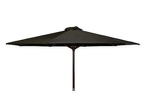 black wood umbrella
