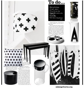 Scandinavian items in a collage