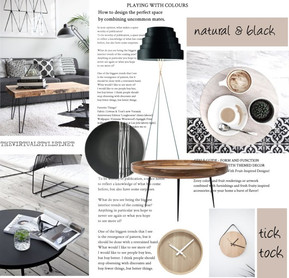 Natural and black items for your living room
