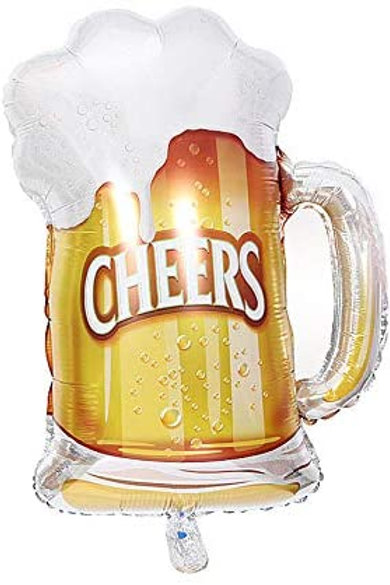 "Cheers Beer Mug | 23"" Foil Balloon"