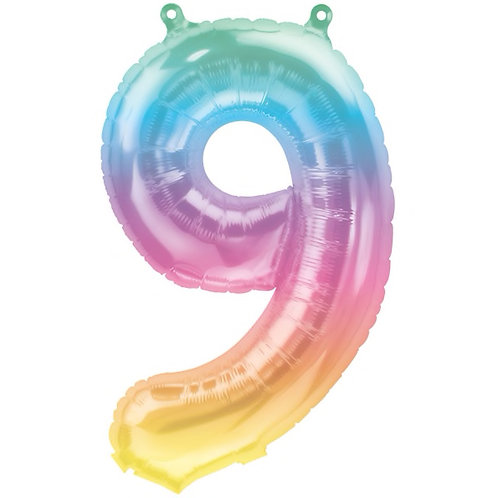 Jelli Ombre Number 9 Foil Balloon, 16in