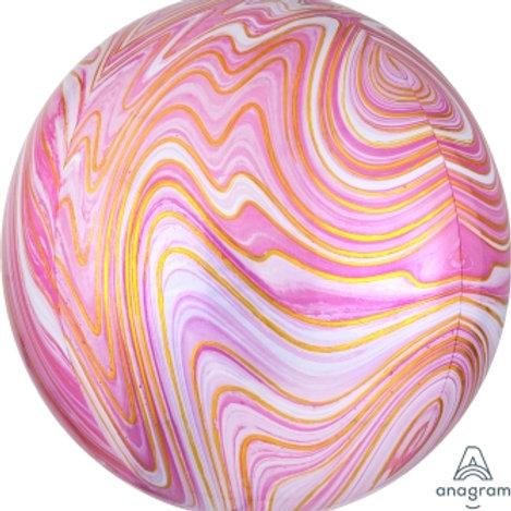 """16"""" ORBZ Marblez Pink"""