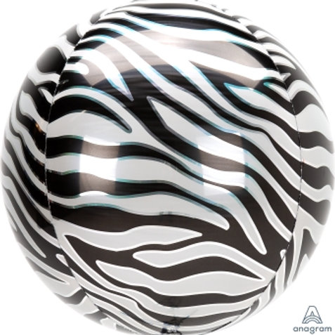 "16"" ORBZ Animal Printz Zebra"