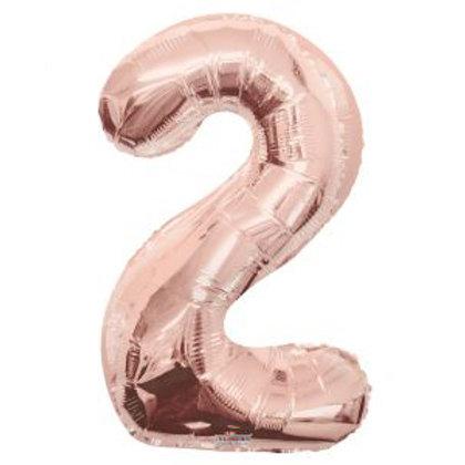 """34"""" ROSE GOLD NUMBER 2"""