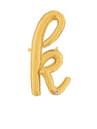 "24"" Script Letter ""k"" SILVER/GOLD"