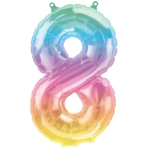 Jelli Ombre Number 8 Foil Balloon, 16in
