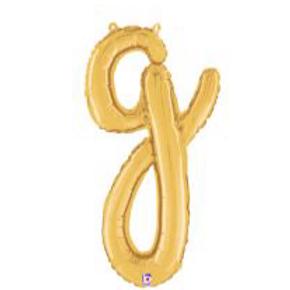 "24"" Script Letter ""g"" SILVER/GOLD"