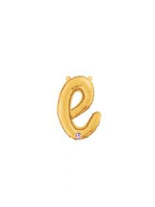 """14"""" Script Letter """"e"""" SILVER/GOLD"""