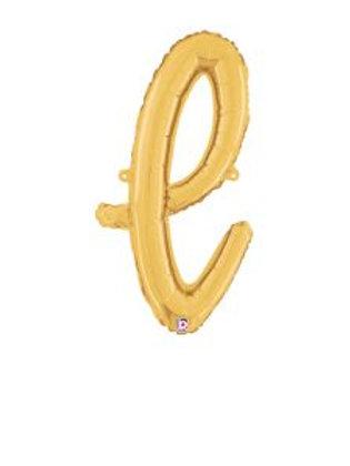 "24"" Script Letter ""l"" SILVER/GOLD"