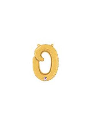 """14"""" Script Letter """"o"""" SILVER/GOLD"""