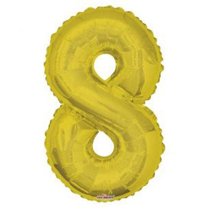"34"" GOLD NUMBER 8"