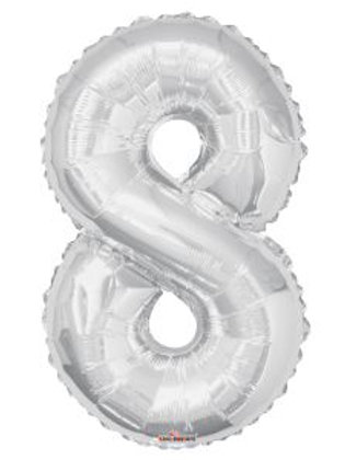 """34"""" SILVER NUMBER 8"""