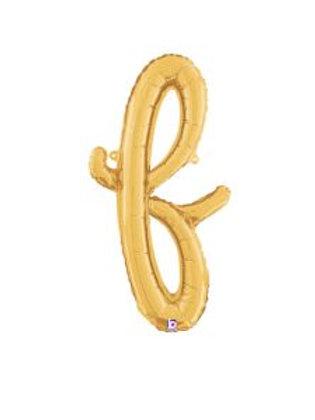 """24"""" Script Letter """"f"""" SILVER/GOLD"""