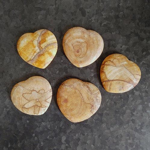Palo Santo Hand Carved Heart