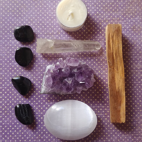 Amethyst Meditation Crystal Kit