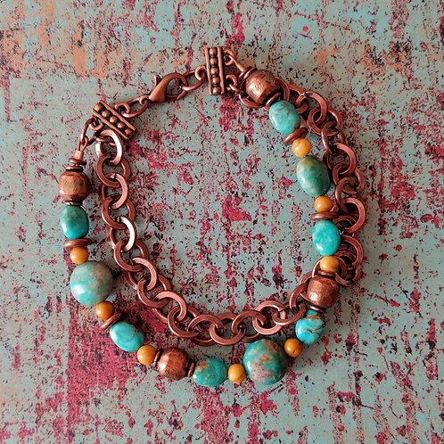 Turquoise & Jasper Bracelet