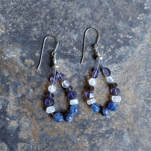 Kyanite & Moonstone Earrings