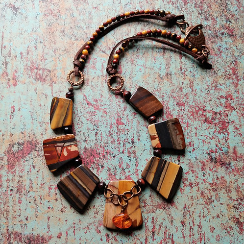 Banded Jasper & Hematite Necklace