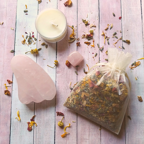 Rose Quartz Facial Steam Tea Gift Set