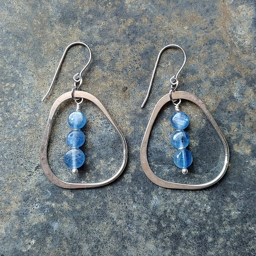 Kyanite Organic Dangle Earrings