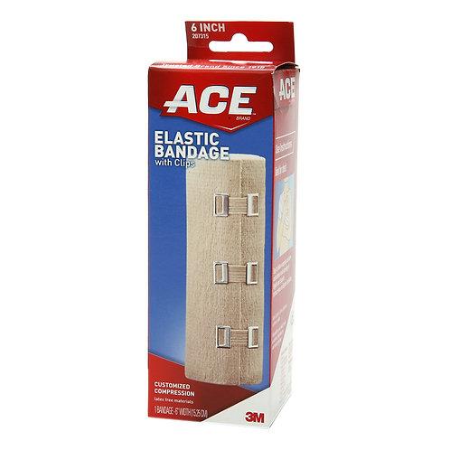 """ACE 6"""" Elastic Bandage w/Clips"""