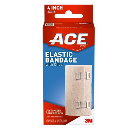 """Ace 4"""" Elastic Bandage w/Clips"""