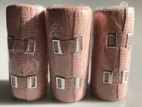"3 X BeWell 4"" Elastic Bandage w/Clips"