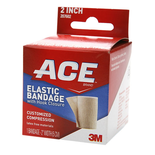 "ACE 2"" Elastic Bandage w/Hook Closure"