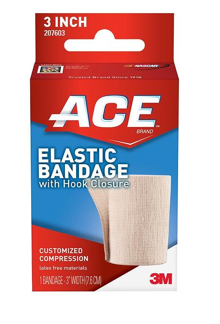 """Ace 3"""" Elastic Bandage w/Hook Closure"""