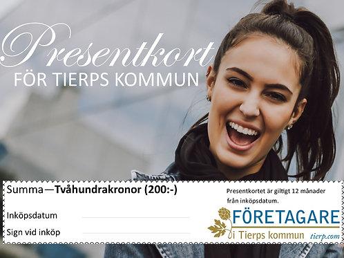 KÖP HÄR - PRESENTKORT FÖR TIERPS KOMMUN
