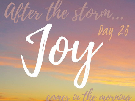 "ROAD to 31 Devotional Day 28 ""Joy Comes"""