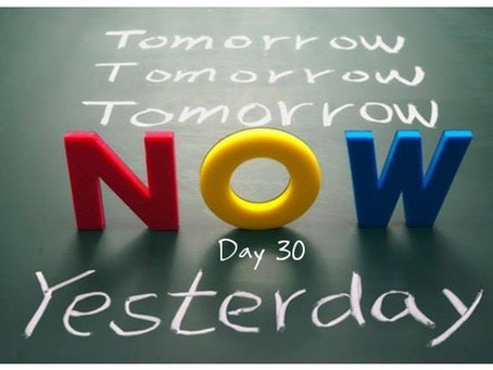 """Road to 31 Devotional - Day 30 - """"In The Now"""""""