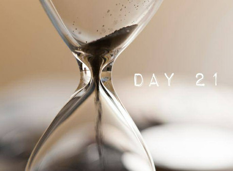 "ROAD to 31 Devotional Day 21- ""Before Times Up"""