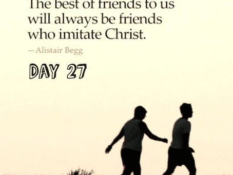 """ROAD to 31 Devotional - Day 27- """"Nobody's Gonna Tear Us Apart"""""""