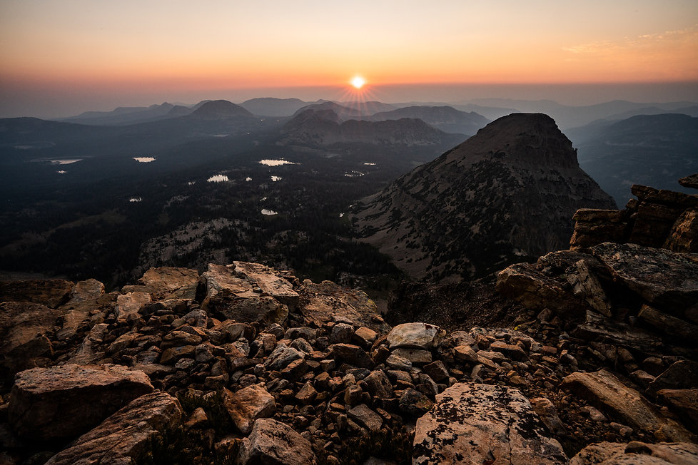 Sunset, Uinta Mountains, Utah