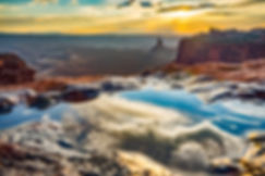 Sunset, Canyonlands National Park, Reflection