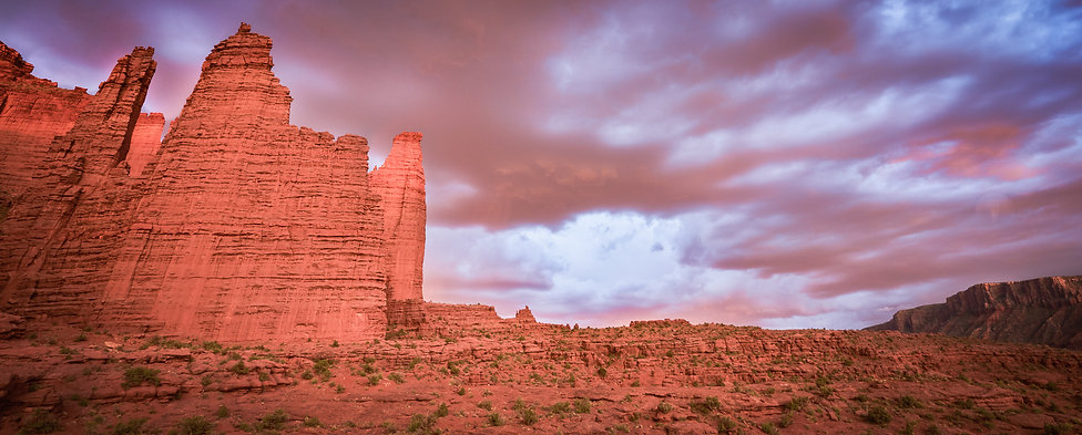 Fisher Towers, Sunset, Desert