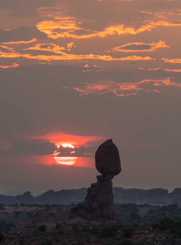 Arches National Park, Sunset, Balance Rock