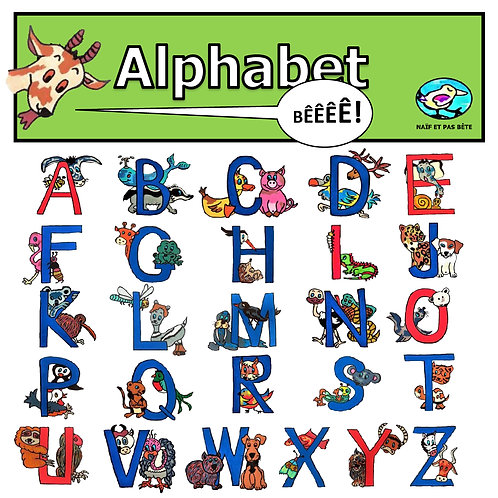 Carte postale modèle Alphabet