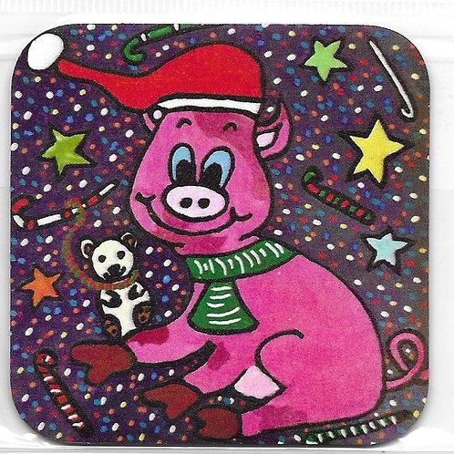 Magnet Léon le cochon de Noël 🎅