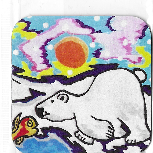 Magnet Ted l'Ours polaire et Fishy