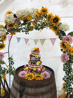 Summer Wedding Cake by The Cuppa Cakery Cornwall