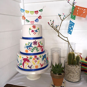 Mexican themed Wedding Cake by The Cuppa Cakery Cornwall