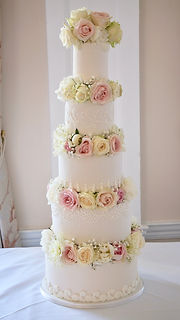 5 Tier Wedding Cake by The Cuppa Cakery Cornwall