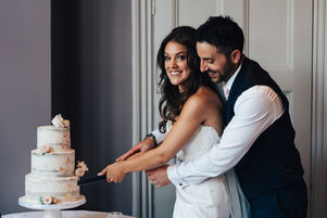 Cake Cutting naked cake