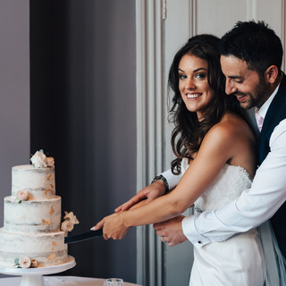 Bride and Groom cutting