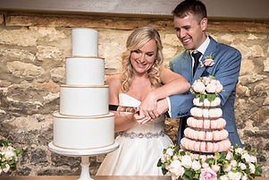 cake cutting by The Cuppa Cakery Cornwall