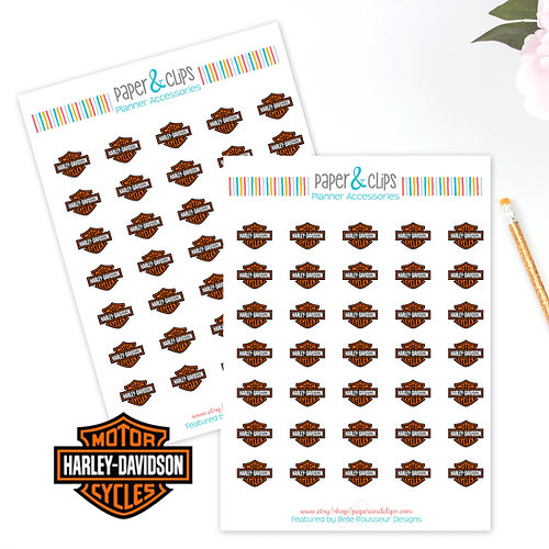Paper Clips The Best Planner Stickers Available On The Net - Harley davidsons motorcycles stickers