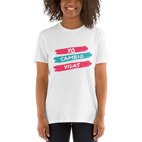 YO CAMBIO VIDAS - Camiseta de manga corta unisex