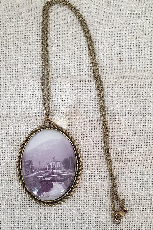 Collier vintage photo ancienne de la Roize à Voreppe.